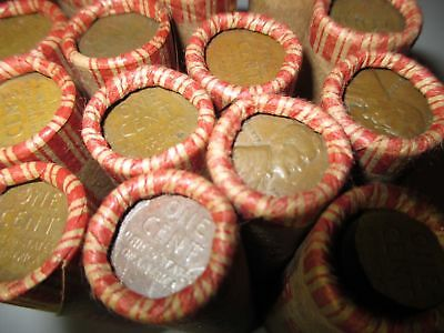Sealed Wheat Penny Shotgun Roll! Wheat Cent Lot 1909-1958 50 Coins PDS Steel Mix