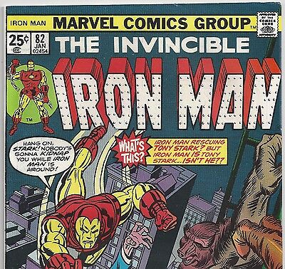 The Invincible IRON MAN #82 Red Ghost Super Apes from Jan.1976 in F/VF condition