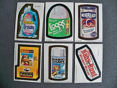 1979 Topps Wacky Packages Stickers - Group of 6