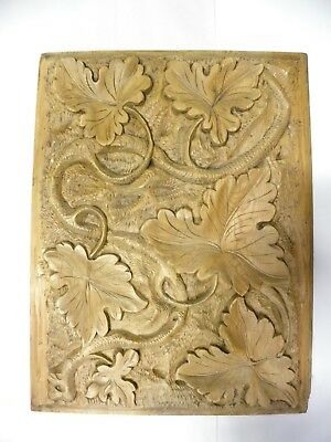 Wonderful Vintage Antique Solid Wood Carved Panel (B20)