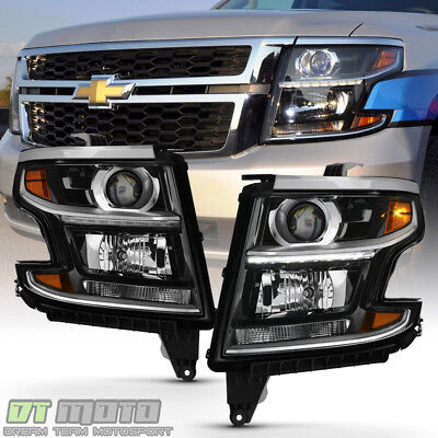 2017 2016 Chevy Tahoe Suburban Factory Style Led Drl Headlights Headlamps