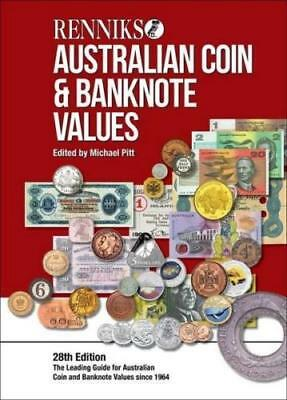 2018 Australia Renniks 28th Edition Hard Cover Coin and Banknote Catalogue