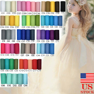"6""x25YD Tulle Roll Spool Tulle Tutu Dress Wedding Party Home Gift Box Wrap Decor"