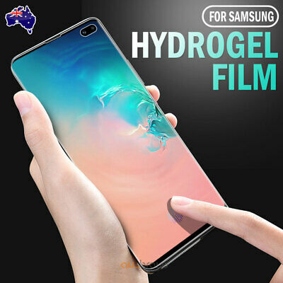 Samsung Galaxy S10 5G S9 S8 Plus Note 10+ 9 8 S7 Edge HYDROGEL Screen Protector