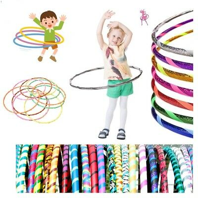 Kids + Adult Plastic Hula Hoops Fun Play Exercise Yoga Gymnastic Fitness Games