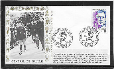France Fdc  Charles De Gaulle /  Nieppe