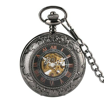 Vintage Hand Wind Mechanical Pocket Watch for Men Women Collection Pendant Chain