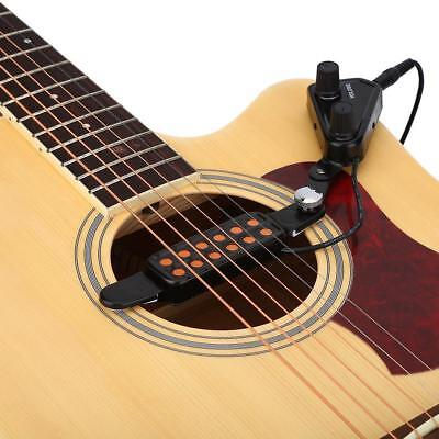 Clip-on Acoustic Electric Guitar Pickup Audio Transducer Amplifier 12 Holes
