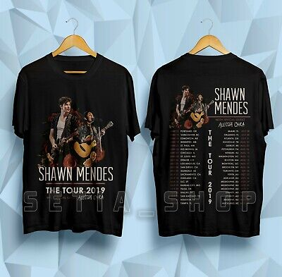 7dd0c3387 NEW SHAWN MENDES T-Shirt The Tour 2019 Dates Gildan Black Shirt Size ...