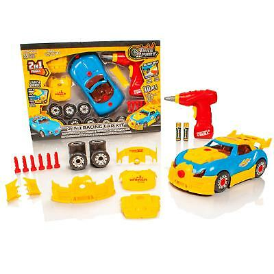 Take Apart 2 in 1 Race Car Childrens/Kids Model Construction Kit Drill Tool Toy