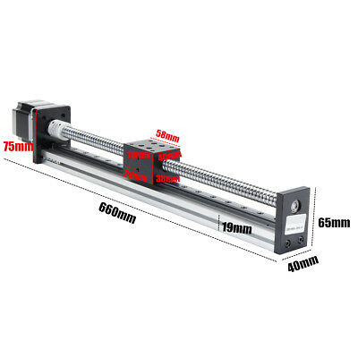 500mm Linear Actuator 1605 Ball Screw Motion Guide Rail +57 Motor For CNC Router