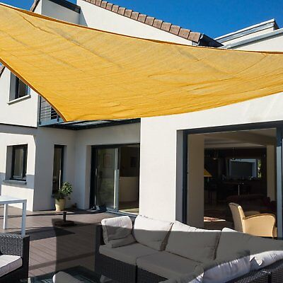 Outsunny Sun Shade Sail Garden Awning Party Sand 3M Outdoor