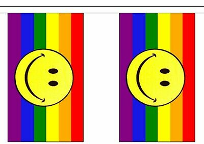 Pirate Happy Face Have A Nice Day Polyester Flag Bunting 3m long with 10 Flags