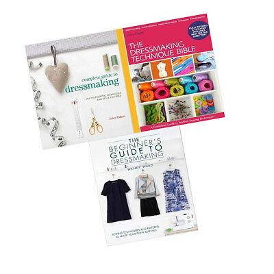 Dressmaking Collection Book Complete Guide to Dressmarking Guide 3 Books Sets