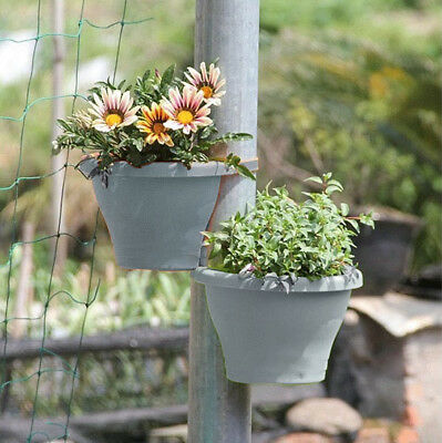 Drain Pipe Flower Pot Holder Plant Hanger Basket Balcony Garden Planter NE8