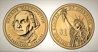2007 D George Washington Presidential Series Dollar UNC MS Uncirculated!!