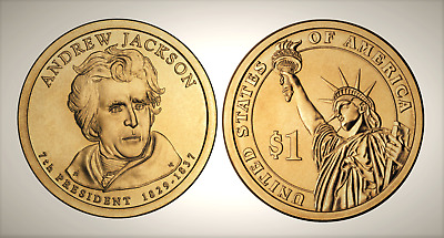 2008 P Andrew Jackson Presidential Series Dollar UNC MS Uncirculated!!