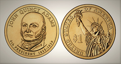 2008 D John Quincy Adams Presidential Series Dollar UNC MS Uncirculated!!