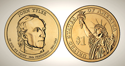 2009 D John Tyler Presidential Series Dollar UNC MS Brilliant Uncirculated!!