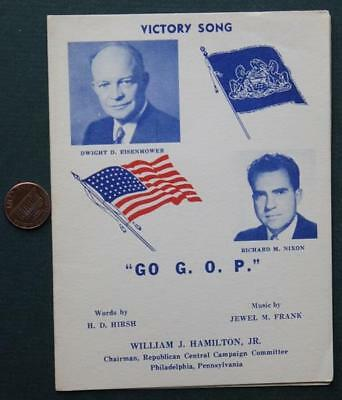 1952 Philadelphia,Pennsylvania Dwight Ike Eisenhower-Dick Nixon songbook-RARITY*