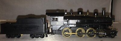 Brass and Diecast HO Scale 4-6-0 Steam Engine and Tender