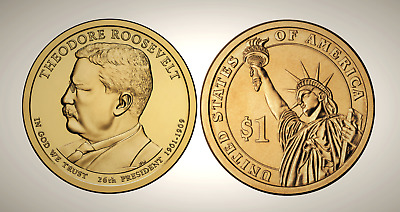2013 P Theodore Roosevelt Presidential Series Dollar UNC MS Uncirculated!