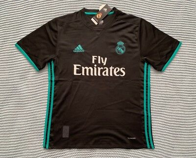 sports shoes 19409 cfd8c CRISTIANO RONALDO REAL Madrid New Men's Away Black Soccer Jersey - Size L