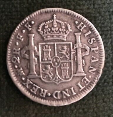 1779 2 Reales FF C III Spain Silver Coin