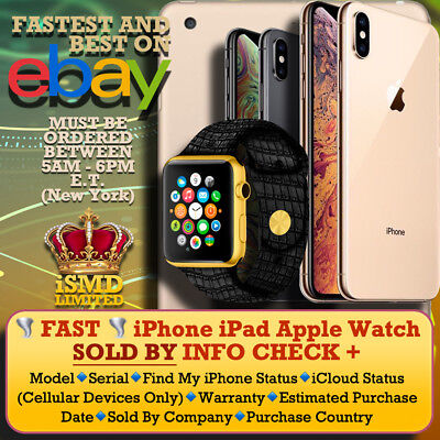 INSTANT FAST iPhone iPad APPLE WATCH IMEI SOLD BY COUNTRY ICLOUD CHECK SERVICE
