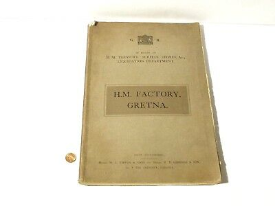 1924 H.M. FACTORY GRETNA Original 137 Page Auction Catalogue Photos & 5 Plans