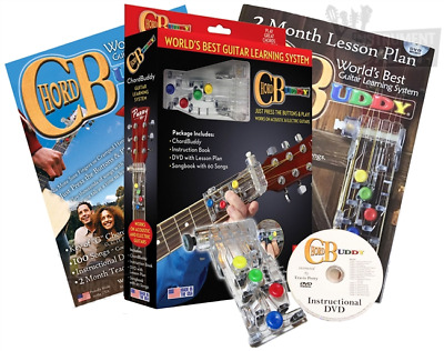 ChordBuddy Learning System Includes CB Device, Songbook, Instruction Book, & DVD