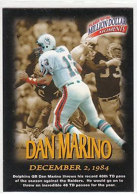 DAN MARINO 1997 Fleer Million Dollar Moments card #22 Miami Dolphins Football NM