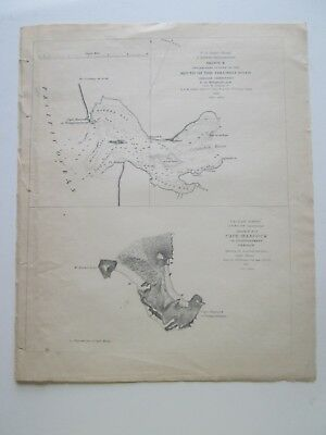 "1850-51 U. S. Coast Survey Nautical Chart ""Columbia River, Cape Hancock, Oregon"""