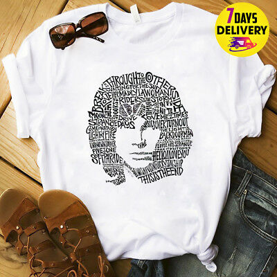 Jim Morrison The Doors Lyrics Silhouette T Shirt White Size S-3XL