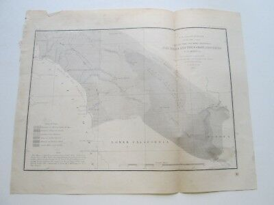 "1855 U. S. Coast Survey Nautical Chart ""Land Between San Diego Colorado River"""