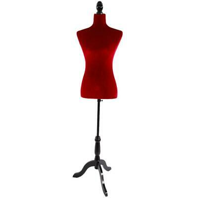 Red Female Mannequin Torso Retail Clothing Display w/ Black Stand Standard