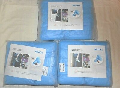 New 3 Packs Of 100 Each Disposable Shoe Boot Covers I Size Blue, 300 Total