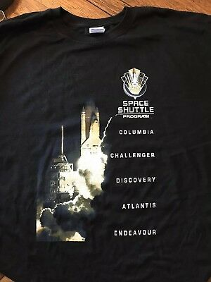 56de64cfcee NASA T Shirt Space Shuttle Program Names Dates Missions Rocket Space  History 4XL