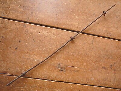 Gliddens 4-Pt One & One Half Wrap Barb  Heavy Square Line - Antique Barbed Wire