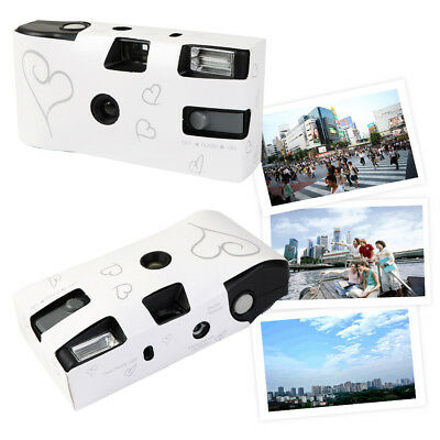 1/10×Silver Hearts Disposable Wedding/Engagement Cameras Party 27exp Photo Card