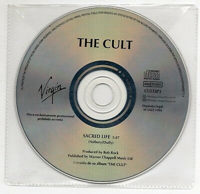 THE CULT Sacred life ULTRA RARE SPANISH PROMO CD SINGLE 1995 COLLECTORS CULTSP3