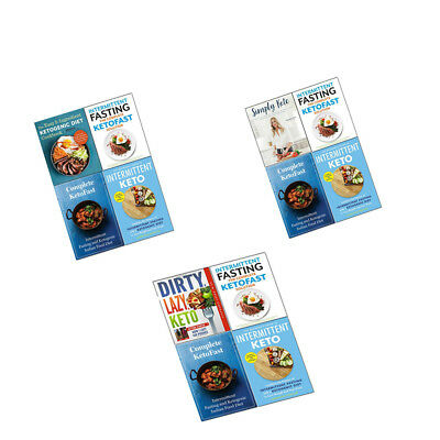 Ketogenic Diet Cookbook Plant based Fasting Plan Intermittent keto books set NEW