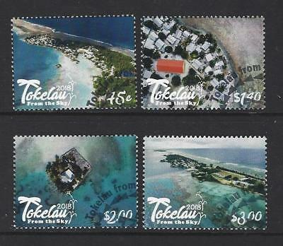 "New Zealand 2018 Tokelau ""from The Sky"" Set Of 4 Fine Used"