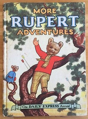 RUPERT ORIGINAL ANNUAL 1952 Inscribed Not Price Clipped VG JANUARY SALE!