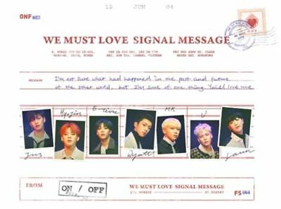 "K-POP ONF 3rd Mini Album ""WE MUST LOVE"" - 1 Photobook + 1 CD Free Shipping"