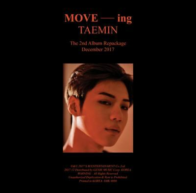 "K-POP SHINEE TAEMIN 2nd Repackage Album ""MOVE -ing"" - 1Photobook + 1CD Free Ship"