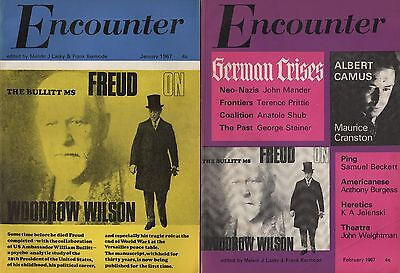 ENCOUNTER MAGAZINE(January & February 1967)-FREUD PSYCHO-ANALYSED U.S. PRESIDENT
