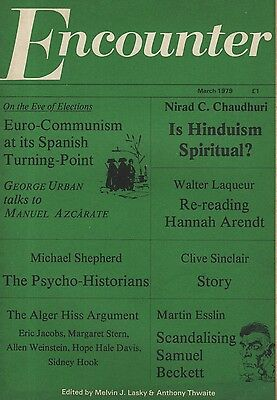 ENCOUNTER MAGAZINE (March 1979)CLIVE SINCLAIR STORY-SAMUEL BECKETT-HANNAH ARENDT