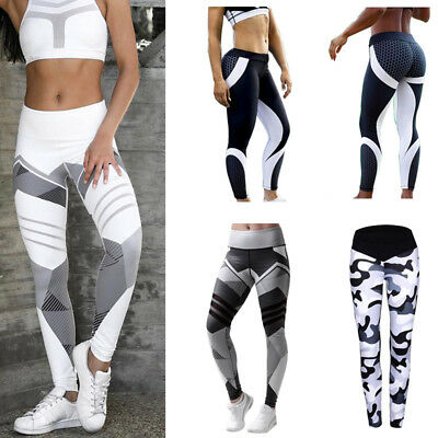 Women's Yoga Fitness Gym Leggings Exercise Ladies Sports Running Pants Trousers