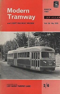 MODERN TRAMWAY No.303 (March 1963)- BARCELONA - HILL OF HOWTH - CIRCUIT BREAKERS